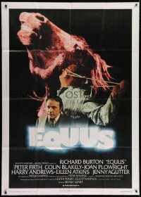 7t784 EQUUS Italian 1p 1978 Richard Burton, Sidney Lumet, different image with horse head!