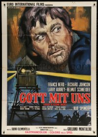 7t778 FIFTH DAY OF PEACE Italian 1p 1969 Dio e con noi, art of Franco Nero by Rodolfo Gasparri!