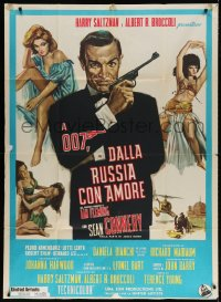 7t774 FROM RUSSIA WITH LOVE Italian 1p R1970s different art of Connery as James Bond + sexy girls!