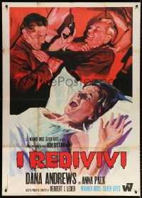 7t773 FROZEN DEAD Italian 1p 1968 different Renato Ferrini art of Dana Andrews & Anna Palk!