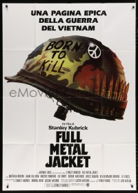 7t772 FULL METAL JACKET Italian 1p 1987 Stanley Kubrick Vietnam War movie, Philip Castle art!