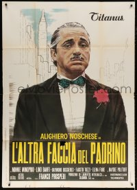 7t771 FUNNY FACE OF THE GODFATHER Italian 1p 1973 comic parody of Coppola's Godfather, great art!