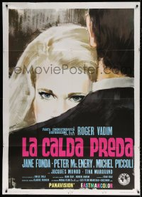 7t767 GAME IS OVER Italian 1p 1966 Roger Vadim's La Curee, Sandro Symeoni art of Jane Fonda!