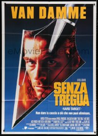 7t753 HARD TARGET Italian 1p 1993 John Woo, cool image of Jean-Claude Van Damme on arrowhead!