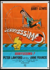 7t749 HOOK, LINE & SINKER Italian 1p 1969 Jerry Lewis, Peter Lawford, completely different art!