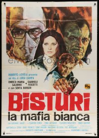 7t746 HOSPITALS THE WHITE MAFIA Italian 1p 1973 cool cast montage art by Rodolfo Gasparri!