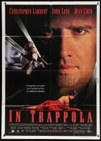 7t742 HUNTED Italian 1p 1995 Christopher Lambert, John Lone, Joan Chen, killing is an art!