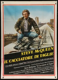 7t741 HUNTER Italian 1p 1980 different Enzo Sciotti art of bounty hunter Steve McQueen!