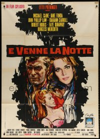 7t739 HURRY SUNDOWN Italian 1p 1967 Otto Preminger, different art of Michael Caine & Jane Fonda!
