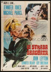 7t736 IDOL Italian 1p 1967 different art of Jennifer Jones & Michael Parks kissing blonde!
