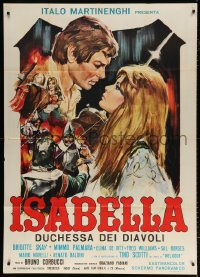 7t728 ISABELLA DUCHESS OF THE DEVILS Italian 1p 1969 Brigitte Skay, great romantic medieval art!