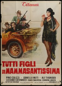 7t726 ITALIAN GRAFFITI Italian 1p 1973 Italian spoof comedy about the Roaring Twenties, great art!