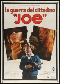 7t724 JOE Italian 1p 1971 John G. Avildsen, different image of Peter Boyle with machine gun!