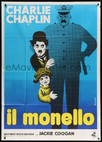 7t721 KID Italian 1p R1970s different Leo Kouper artwork of Charlie Chaplin & Jackie Coogan!