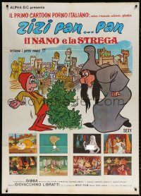 7t720 KING DICK Italian 1p 1983 wacky different images with nudity from cartoon sexploitation!
