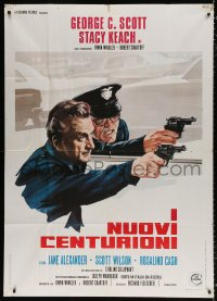 7t677 NEW CENTURIONS Italian 1p 1972 cool different image of cops George Scott & Stacy Keach!