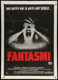 7t663 PHANTASM Italian 1p 1979 great c/u of screaming naked woman with eyes visible through hands!