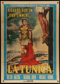 7t645 ROBE Italian 1p R1962 different full-length art of Richard Burton by crucified man!