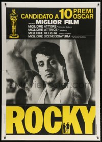 7t644 ROCKY Italian 1p 1977 different close up of boxer Sylvester Stallone, boxing classic!