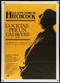 7t640 ROPE Italian 1p R1983 cool profile image of director Alfred Hitchcock, crime classic!