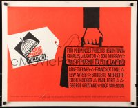 7w012 ADVISE & CONSENT 1/2sh 1962 Otto Preminger, great Saul Bass Washington Capital artwork!