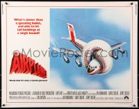 7w013 AIRPLANE 1/2sh 1980 classic zany parody by Jim Abrahams and David & Jerry Zucker!