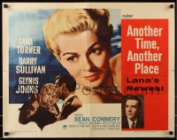 7w021 ANOTHER TIME ANOTHER PLACE style A 1/2sh 1958 sexy Lana Turner, young Sean Connery!