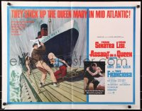 7w023 ASSAULT ON A QUEEN 1/2sh 1966 art of Frank Sinatra w/pistol & sexy Virna Lisi on submarine!