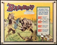 7w026 BAMBUTI 1/2sh 1959 untamed Africa, a fantastic fight for life never before filmed!