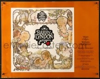 7w030 BARRY LYNDON 1/2sh 1975 Stanley Kubrick, Ryan O'Neal, colorful art of cast by Gehm!