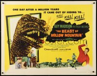 7w032 BEAST OF HOLLOW MOUNTAIN 1/2sh 1956 it came out after a million years to kill!