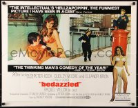 7w036 BEDAZZLED 1/2sh 1968 classic fantasy, Dudley Moore stares at sexy Raquel Welch as Lust!