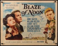 7w044 BLAZE OF NOON style B 1/2sh 1947 circus stunt pilot William Holden & sexy Anne Baxter!