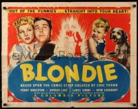 7w046 BLONDIE 1/2sh 1939 Penny Singleton, Arthur Lake, Chic Young comic, 1st in series, ultra-rare!