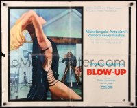 7w047 BLOW-UP 1/2sh 1967 Michelangelo Antonioni, David Hemmings photographs Verushka, ultra-rare!