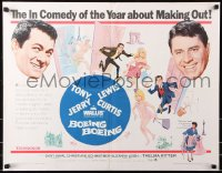 7w048 BOEING BOEING 1/2sh 1965 Tony Curtis & Jerry Lewis in the big comedy of nineteen sexty-sex!