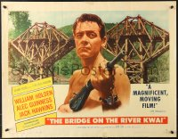 7w049 BRIDGE ON THE RIVER KWAI style A 1/2sh 1958 Holden, Alec Guinness, David Lean WWII classic!