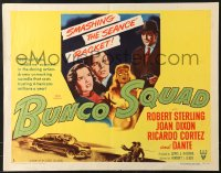 7w052 BUNCO SQUAD style A 1/2sh 1950 smashing the seance racket, great clairvoyant noir art!