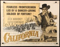7w054 CALIFORNIA 1/2sh 1963 fearless frontiersman Jock Mahoney, sexy Faith Domergue!