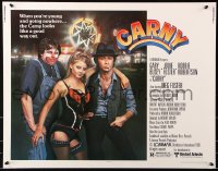 7w058 CARNY 1/2sh 1980 sexy Jodie Foster, Robbie Robertson, Gary Busey in carnival clown make up!