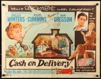 7w061 CASH ON DELIVERY style A 1/2sh 1956 Shelley Winters, Peggy Cummins, you'll rockabye w/laughter