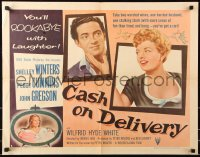 7w062 CASH ON DELIVERY style B 1/2sh 1956 Shelley Winters, Peggy Cummins, you'll rockabye w/laughter