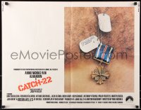 7w064 CATCH 22 1/2sh 1970 directed by Mike Nichols, based on the novel by Joseph Heller!