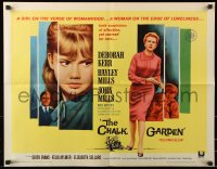 7w066 CHALK GARDEN 1/2sh 1964 Deborah Kerr, John Mills, Hayley Mills on the verge of womanhood!