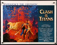 7w070 CLASH OF THE TITANS 1/2sh 1981 Ray Harryhausen, fantasy art by Greg & Tim Hildebrandt!