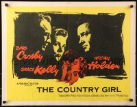 7w071 COUNTRY GIRL style A 1/2sh 1954 Grace Kelly, Bing Crosby, William Holden, by Clifford Odets!