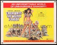 7w074 CREATURES THE WORLD FORGOT 1/2sh 1971 they don't make sexy babes like Julie Ege anymore!