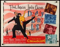 7w077 DADDY LONG LEGS 1/2sh 1955 art of Fred Astaire in formal wear dancing w/Leslie Caron!