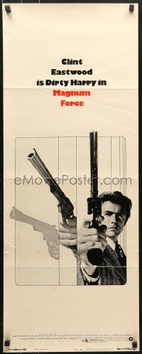 7w841 MAGNUM FORCE insert 1973 action image of Clint Eastwood as Dirty Harry pointing his huge gun!