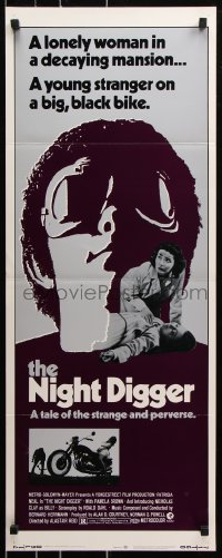 7w872 NIGHT DIGGER insert 1971 cool image of Nicholas Clay, a strange and perverse tale!